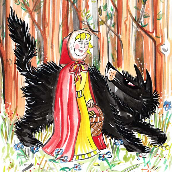 "Your grandchild, little red riding hood,"" replied the wolf"