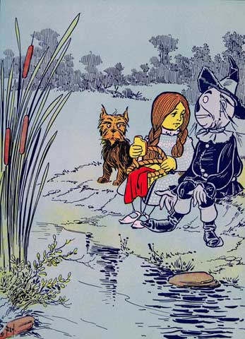 Dorothy and Scarecrow by Water