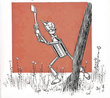 Tin Woodman Chopping