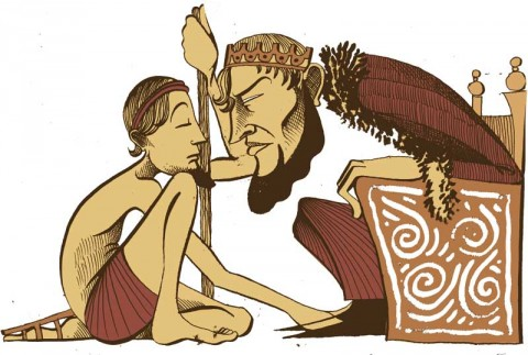 Jason and King Pelias by Nick Hayes for Storynory