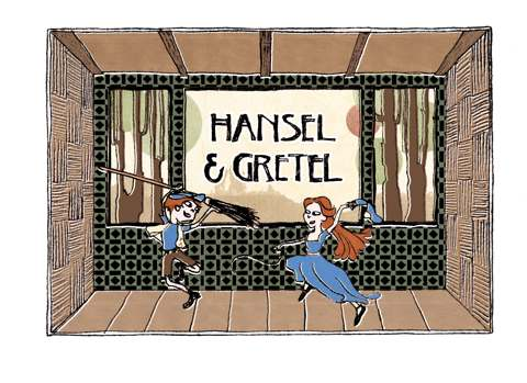 Hansel and Gretel with Music from the Opera and pictures by CaiJia Eng